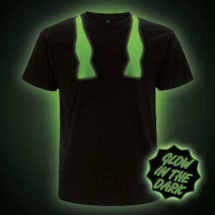 Glow In The Dark Untied Bow Tie T-shirt