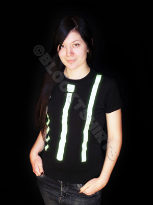 Glow in the dark Tie and Braces Women's T-Shirt
