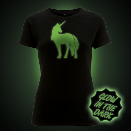 Glow in the dark Unicorn Women's T-Shirt