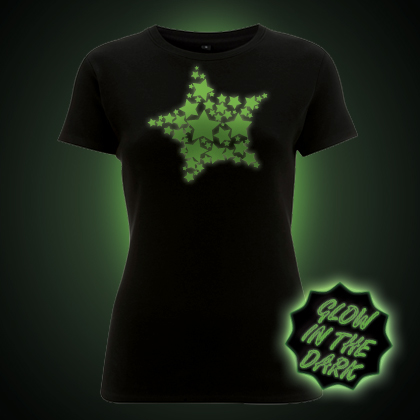 Glow in the dark Stars women's t-shirt