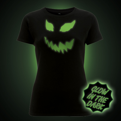 Glow in the dark Scary Pumpkin women's t-shirt