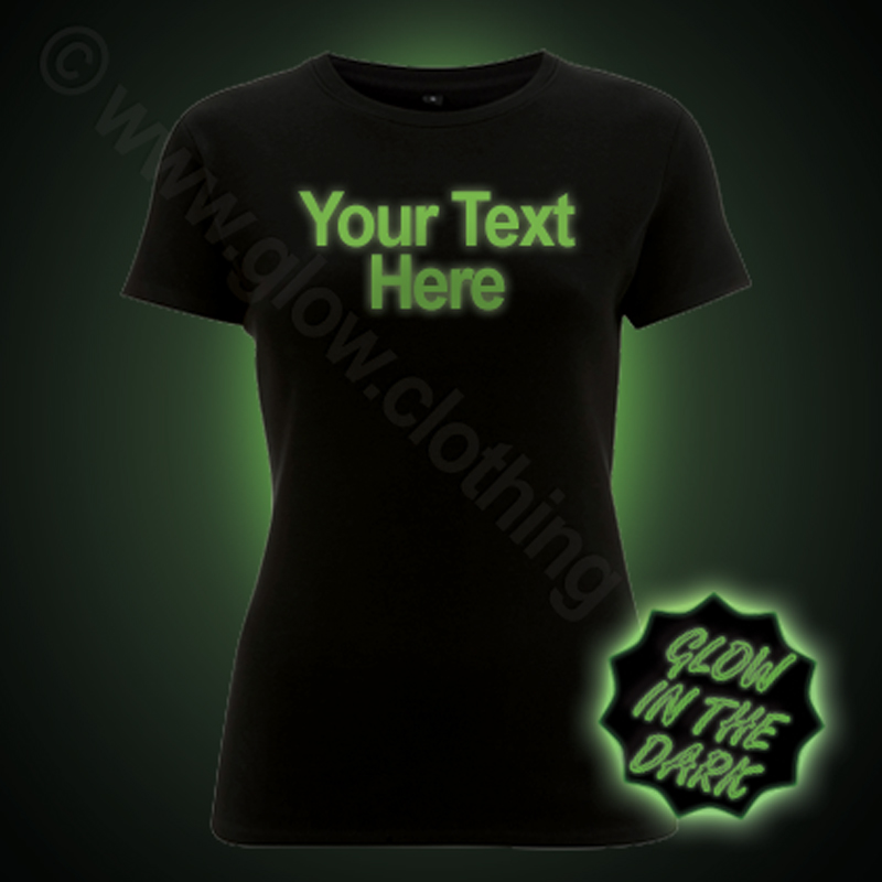 Custom Glow in the Dark Women's T-Shirt