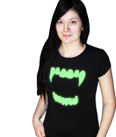 glow t-shirts & clothing