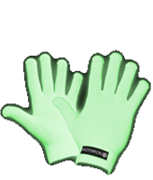 glow gloves & clothing